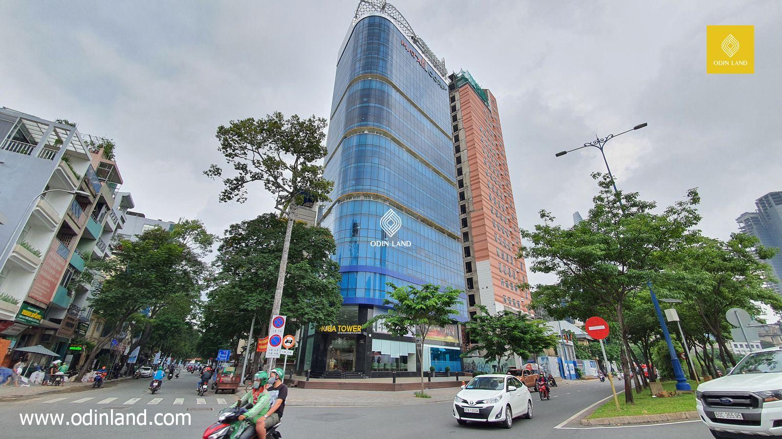 Giao thông tại văn phòng cho thuê tòa nhà Huba Tower