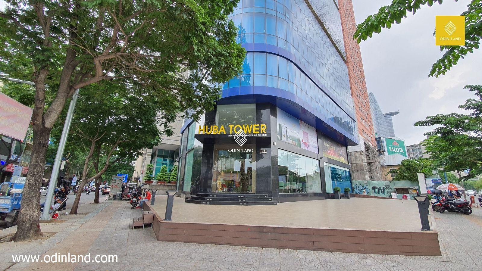 Sảnh trước văn phòng cho thuê tòa nhà Huba Tower